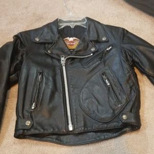 Boys Biker Coat Childs Black Leather 16 Kids  Classic Motorcycle Jacket